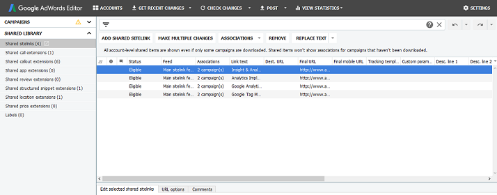 Adwords Editor update image